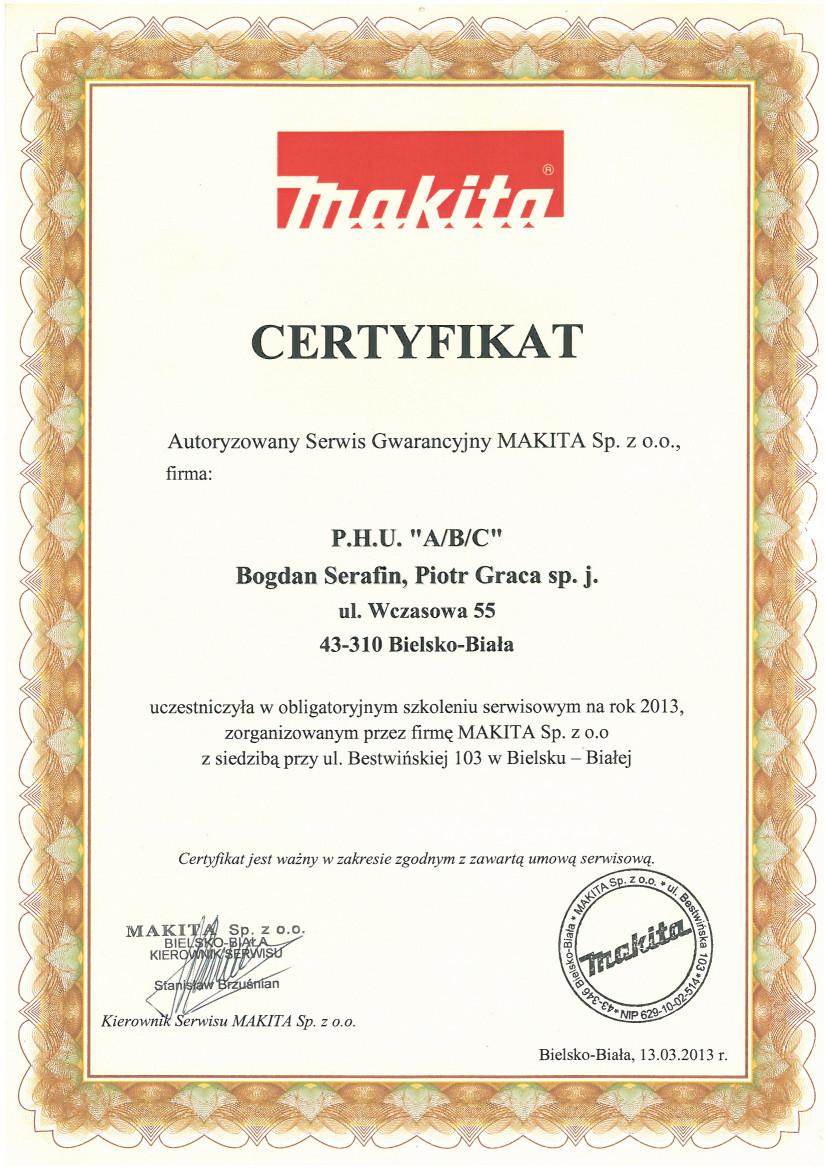 autoryzowany serwis gwarancyjny Makita - ABC